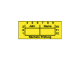 Test status labels, 38 x 16 mm, Next check month/year/name, yellow, 590-00166, roll with 100 labels